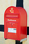 Dansk postkasse - Wall mounted danish Post Box