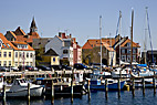 Havnen i Fåborg - The harbour in Faaborg