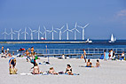 Amager Strandpark - People sun bathing on the beach at Amager Strandpark, Copenhagen