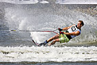 EM i Vandski i Vallensbaek - High Speed Slalom waterskier - Clint Stadlbauer, Belgium