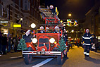 Gammel stigevogn - Old fire engine in the christmas parade