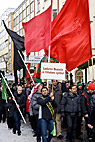 Imam Hussein mindeoptog - Men walking the Imam hussein memorial march in Malmo Sweden
