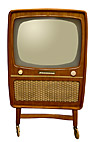 Gammelt TV apparat - Old television set