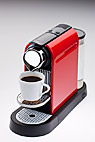 Kaffemaskine - Red automatic coffee machine