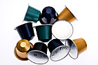 Nespresso kaffekapsler - Heap of coffee capsules