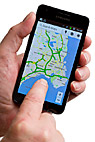 læser kort på smartphone - Using Maps on a Smartphone