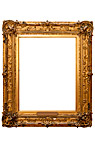 Billedramme - Vertical gilded picture frame