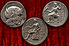 Tre Syriske mønter - Three coins from Syria (The Seleucid Kingdom)