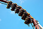 Demonen - The Demon roller coaster in Tivoli Copenhagen