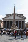 Pantheon - The Pantheon in the Piazza della Rotonda in Rome Italy