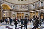 Pantheon - Interior of the Pantheon in Rome Italy